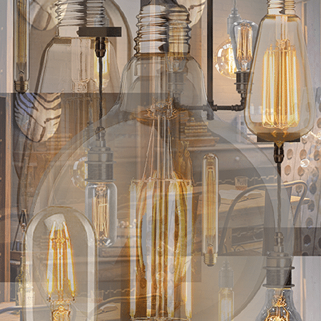 Image showing a selection of LED filament lamps.