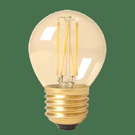 Golfball E27 Cap Led Lamp Gold Finish